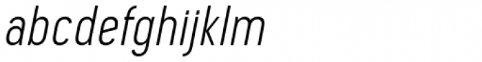Pekora Light Italic Font LOWERCASE