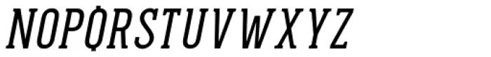 Pekora Regular Serif Italic Font UPPERCASE