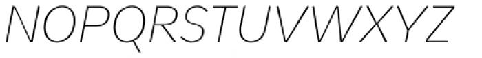 Pelita Grande Thin Italic Font UPPERCASE