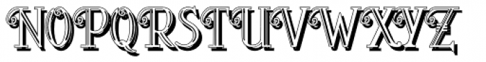 Peloponeso 2 Shadow Font LOWERCASE