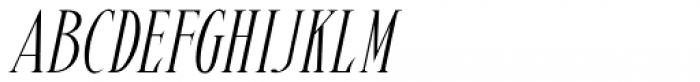 Pen Elegant Oblique JNL Font LOWERCASE