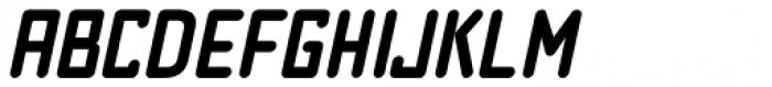 Pen Nib Square JNL Oblique Font LOWERCASE