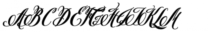 Pen Swan Bold Italic Font UPPERCASE