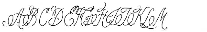 Pen Swan Monoline Font UPPERCASE