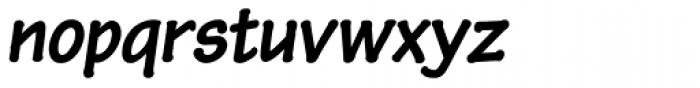 Pen Tip DT Bold Oblique Font LOWERCASE