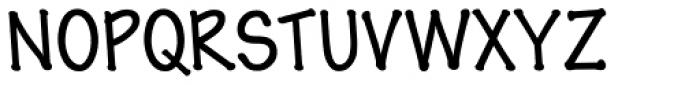 Pen Tip DTLefty Regular Font UPPERCASE