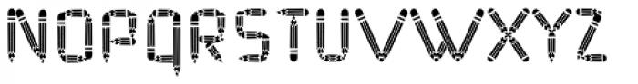 Pencil Fat Font UPPERCASE