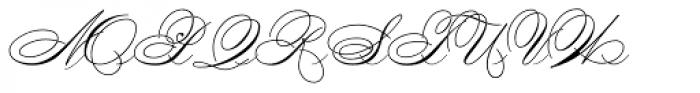 Penman Font UPPERCASE