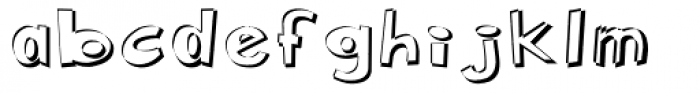 Pennywhistle Negative Font LOWERCASE