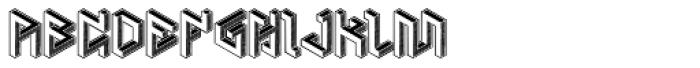 Penrose Geometric Reverse Alternate Font UPPERCASE