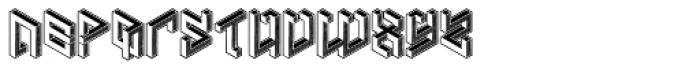 Penrose Geometric Reverse Alternate Font LOWERCASE