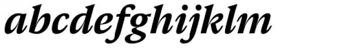 Pensum Pro Bold Italic Font LOWERCASE