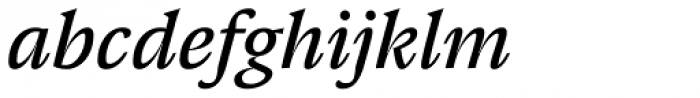 Pensum Pro Book Italic Font LOWERCASE