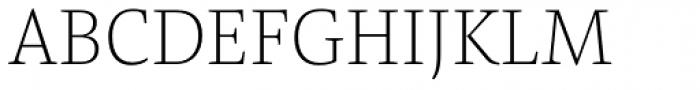 Pensum Pro ExtraLight Font UPPERCASE