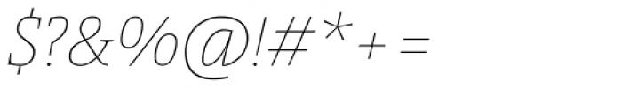 Pensum Pro Thin Italic Font OTHER CHARS