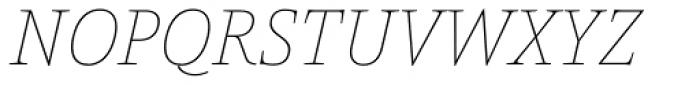 Pensum Pro Thin Italic Font UPPERCASE