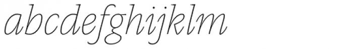 Pensum Pro Thin Italic Font LOWERCASE