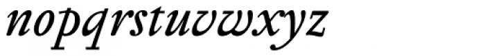 Pentagraf Italic Font LOWERCASE
