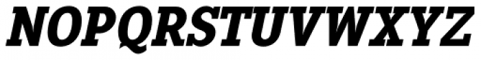 Pentay Black Italic Font UPPERCASE
