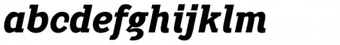 Pentay Black Italic Font LOWERCASE