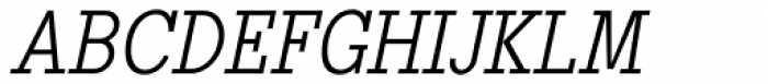 Pentay Light Italic Font UPPERCASE