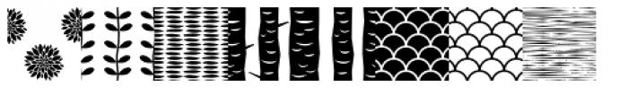 Peoni Patterns Font LOWERCASE