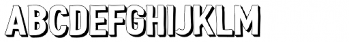 Peperoncino Sans 3D Right Font UPPERCASE