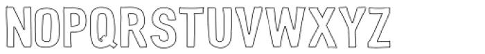 Peperoncino Sans Outline Font UPPERCASE