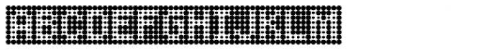 Peppered BTN Negative Font UPPERCASE