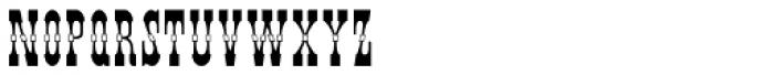 Pepperwood Fill Font LOWERCASE