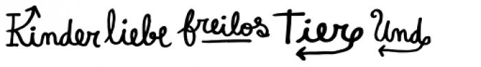 Pequena Word German Font LOWERCASE