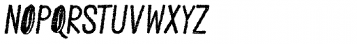 Peral Rough Italic Font UPPERCASE
