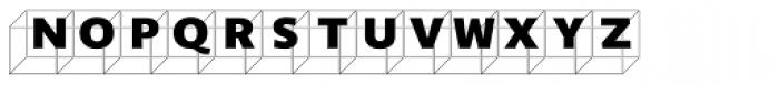 Perec Ludique Cubes Font LOWERCASE