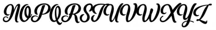 Perfume Brush Bold Font UPPERCASE