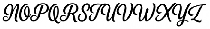 Perfume Brush Regular Font UPPERCASE