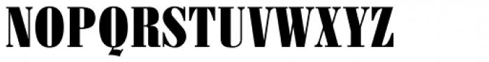 Pergamon Condensed Bold Font UPPERCASE
