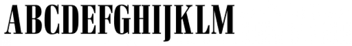 Pergamon Condensed Font UPPERCASE