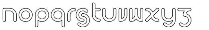 Perkly Outline Bold Font LOWERCASE