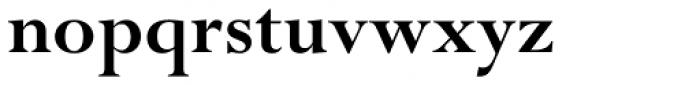 Perpetua Pro Bold Font LOWERCASE