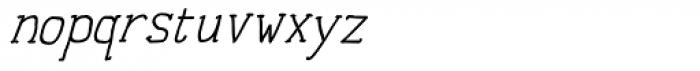 Personal Manifesto Medium Oblique Font LOWERCASE