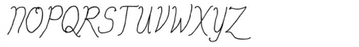 Personal Manifesto Thin Italic Font UPPERCASE