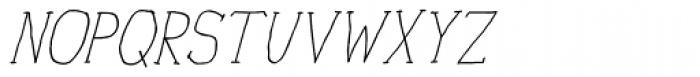 Personal Manifesto Thin Oblique Font UPPERCASE