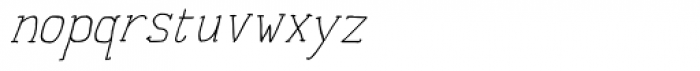Personal Manifesto Thin Oblique Font LOWERCASE