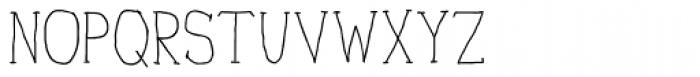 Personal Manifesto Thin Font UPPERCASE