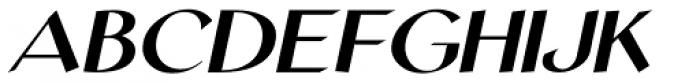 Personal Note Oblique JNL Font UPPERCASE