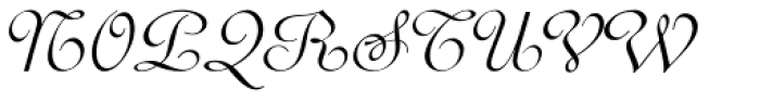 Perugia Cursive Font UPPERCASE