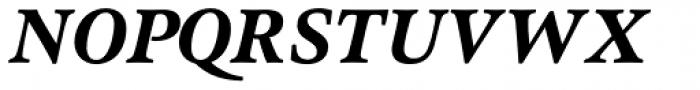 Pesaro Extra Bold Italic Font UPPERCASE