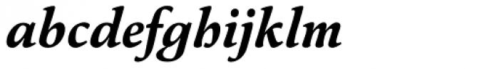 Pesaro Extra Bold Italic Font LOWERCASE