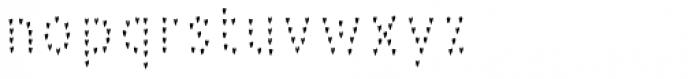 Pesto Fresco Hearts Font LOWERCASE