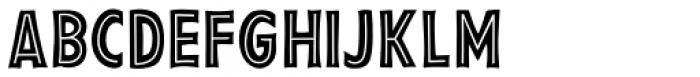 Pesto Fresco Inline Font UPPERCASE